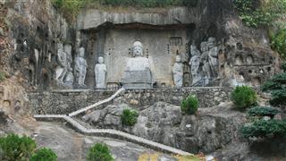 Chinese Buddha Stone Statues In Shenzhen