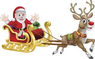 Santa Christmas Sleigh