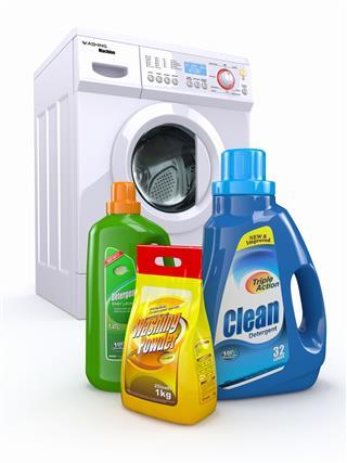 Washing Machine And Detergent Bottles