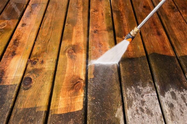 Painting Weathered Pressure Treated Wood