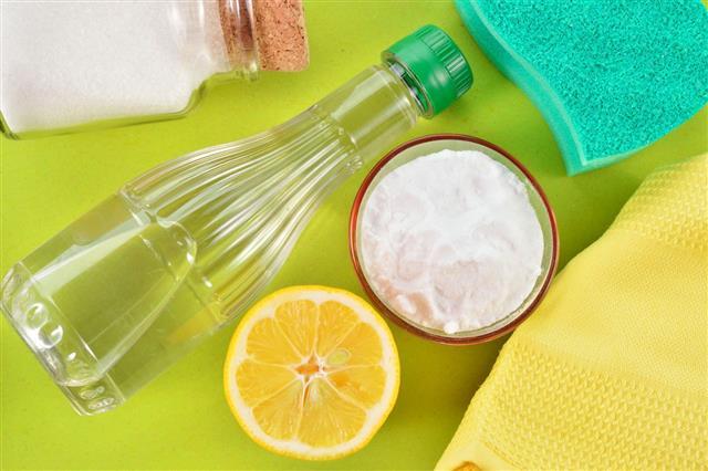 Vinegar Baking Soda Salt And Lemon