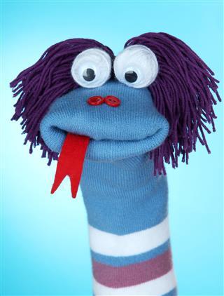 Wide Eyed Woolen Sock Puppet