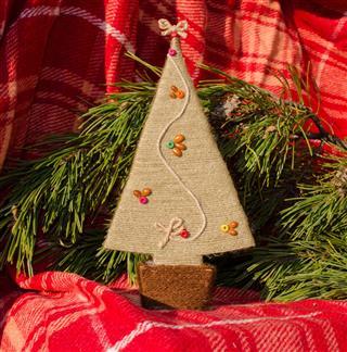 Christmas Card With Handmade Tree