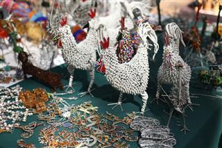 Beaded Chickens