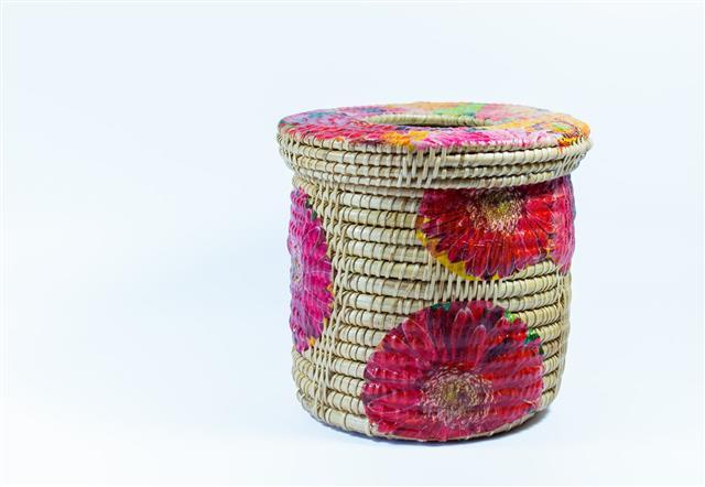 Decoupage Wicker Basket