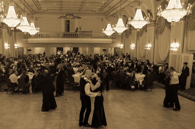 Ballroom Dance In Black And White