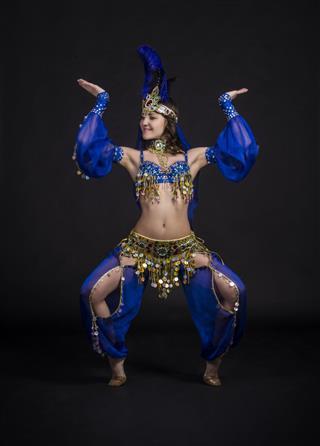 Young Girl Dances East Dance
