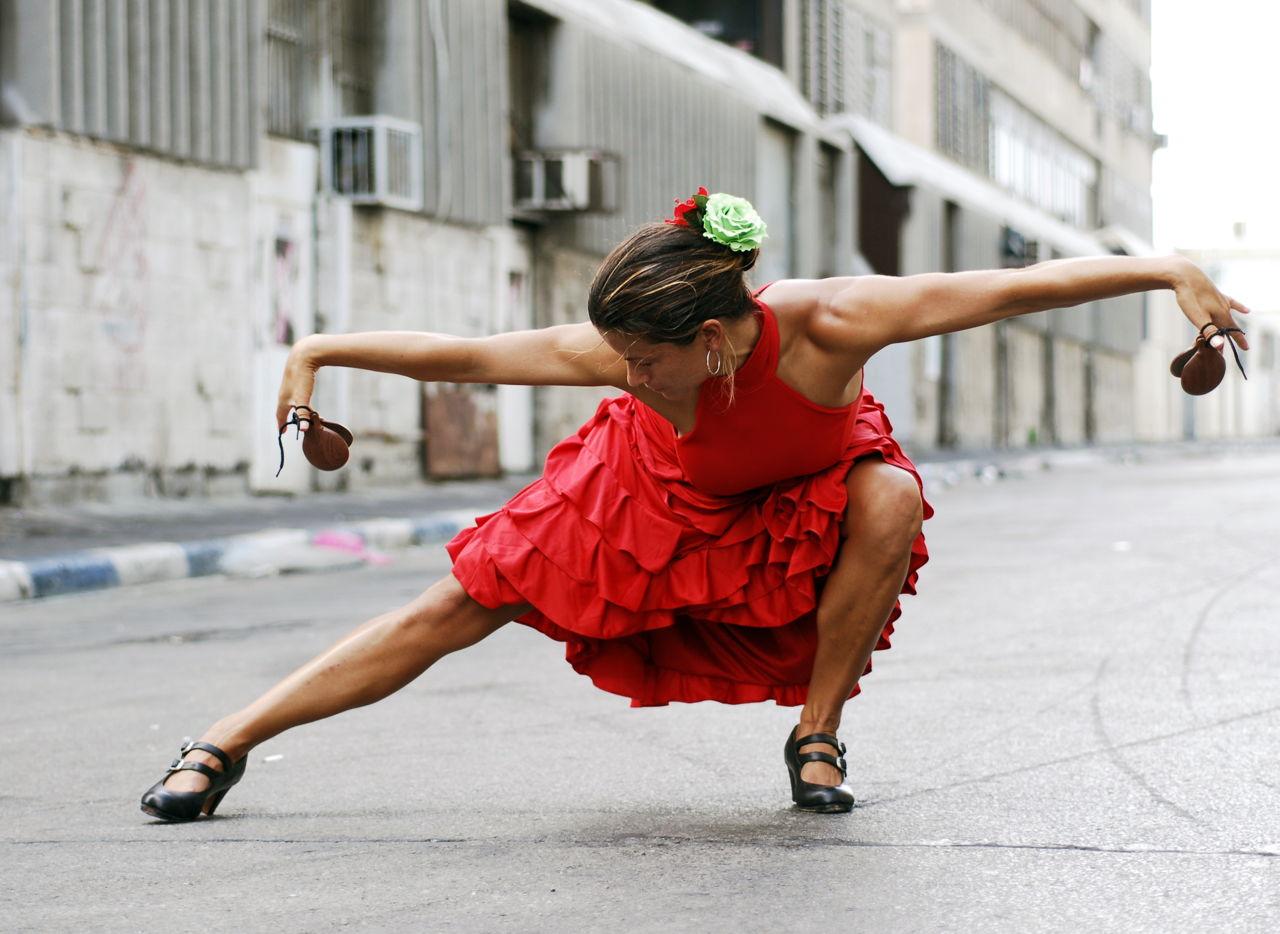 Flamenco Dancer Pose on Tango Steps
