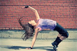 Gorgeous Adolescent Girl Hip Hop Dancing