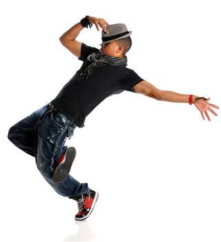 Hip Hop Dancer Wearing A Gray Hat