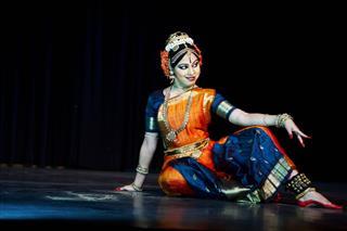 Classical Indian Kuchipudi Dancer