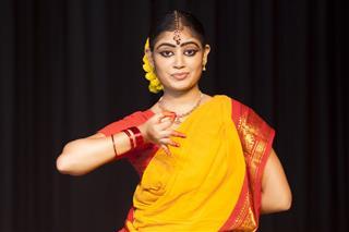 Indian Female Classical Dancer Bharata Natyam
