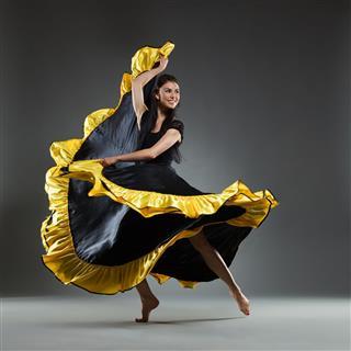 Dancing In Black Dress