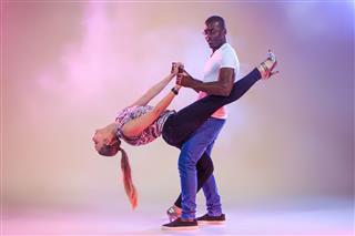 Young Couple Dances