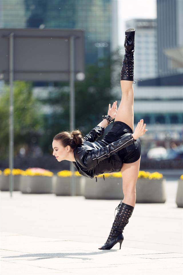 Beautiful Woman Performing Acrobatics
