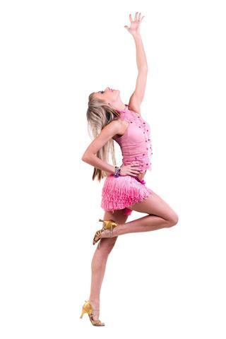 Beautiful Latino Dancer Woman
