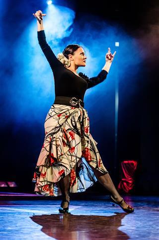 A Woman Dancing Tango