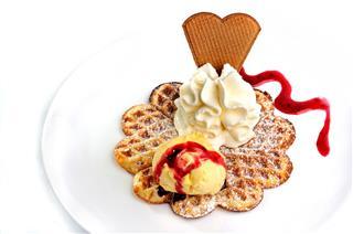 Delicious Ice Cream Waffle