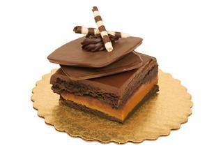 Gourmet Chocolate Fudge And Caramel Brownie