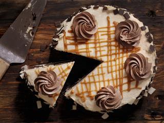 Triple Layer Chocolate Caramel Cake