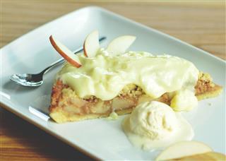 Fresh Apple Pie With Vanilla Ice Cream