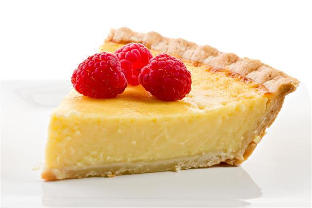 Raspberries And Custard Pie