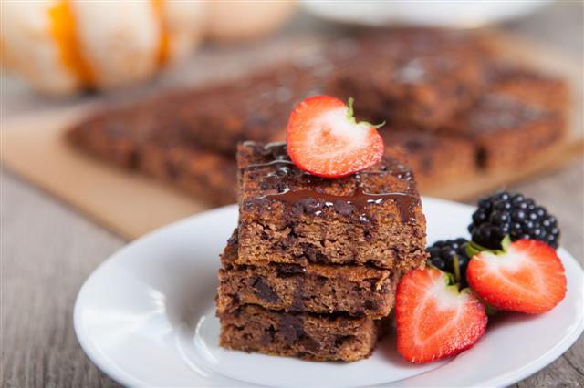 Flourless Healthy Pumpkin Brownies