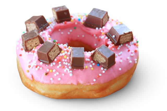Fresh Donut Isolate On White