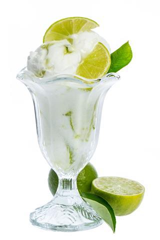 Fresh Lemon Ice Cream Gobbler Isolated