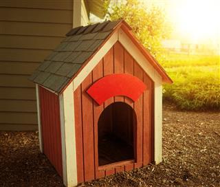Vintage Red Dog House