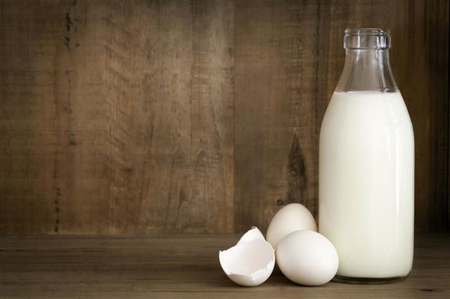 Milk Eggs And Food