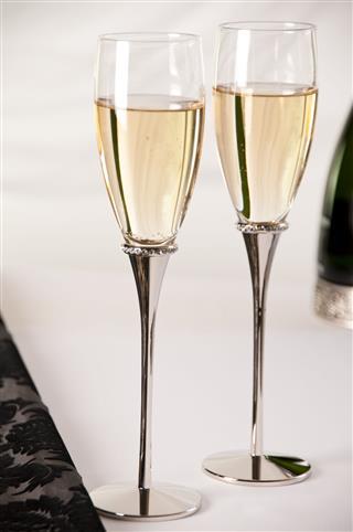 Silver Champagne Glasses