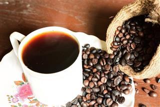 Coffee Cup And Coffee Bag