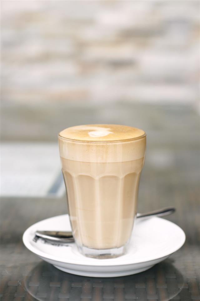 Latte In A Glass