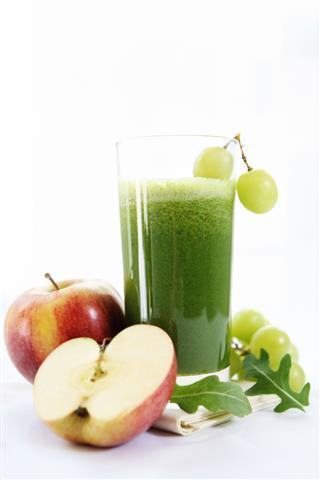 Apple Grape And Arugula Juice