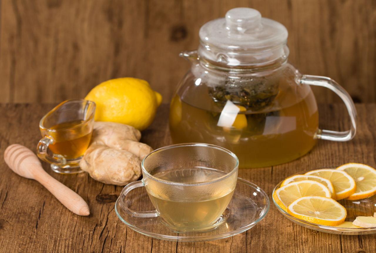 Днем, картинка чай с лимоном и медом