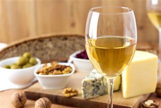 White Wine And Cheese Arrangement
