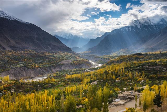 Beautiful Landscape Of Hunza Valley