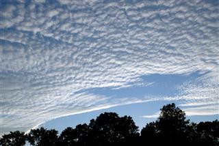 Blue Sky And Altostratus Clouds