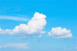 Bright Summer Blue Sky Clouds