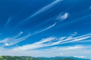 Cirrus In Blue Sky