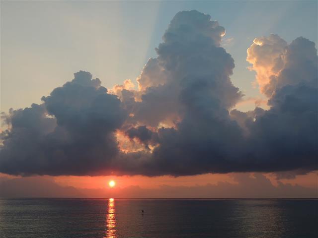 Sunrise Heavy Dark Clouds