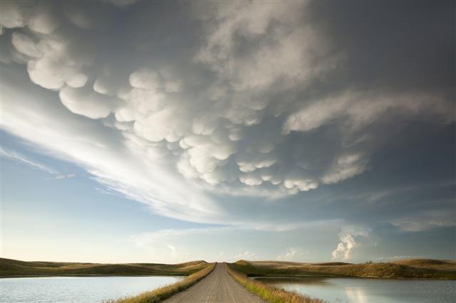Mammatus Storm Clouds Saskatchewan