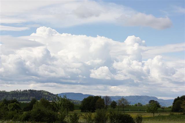 Cumulus Clouds In South Germany