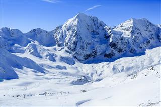 Snow Capped Peaks Of The Italian