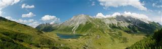 Idyllische Berge Alpine Landschaft Almen