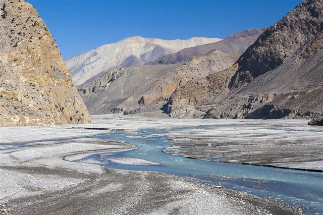 Kali Gandaki River In Nepal