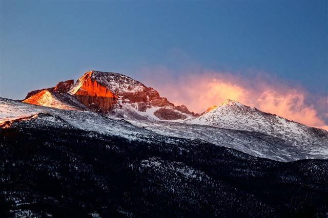 Longs Peak Mountain Rocky Mountains