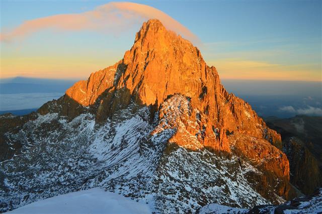 Sunrise Behind Mt Kenya
