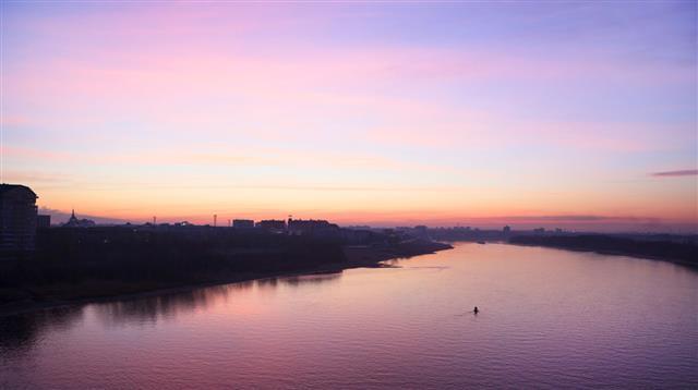 Sunrise On The Irtysh River